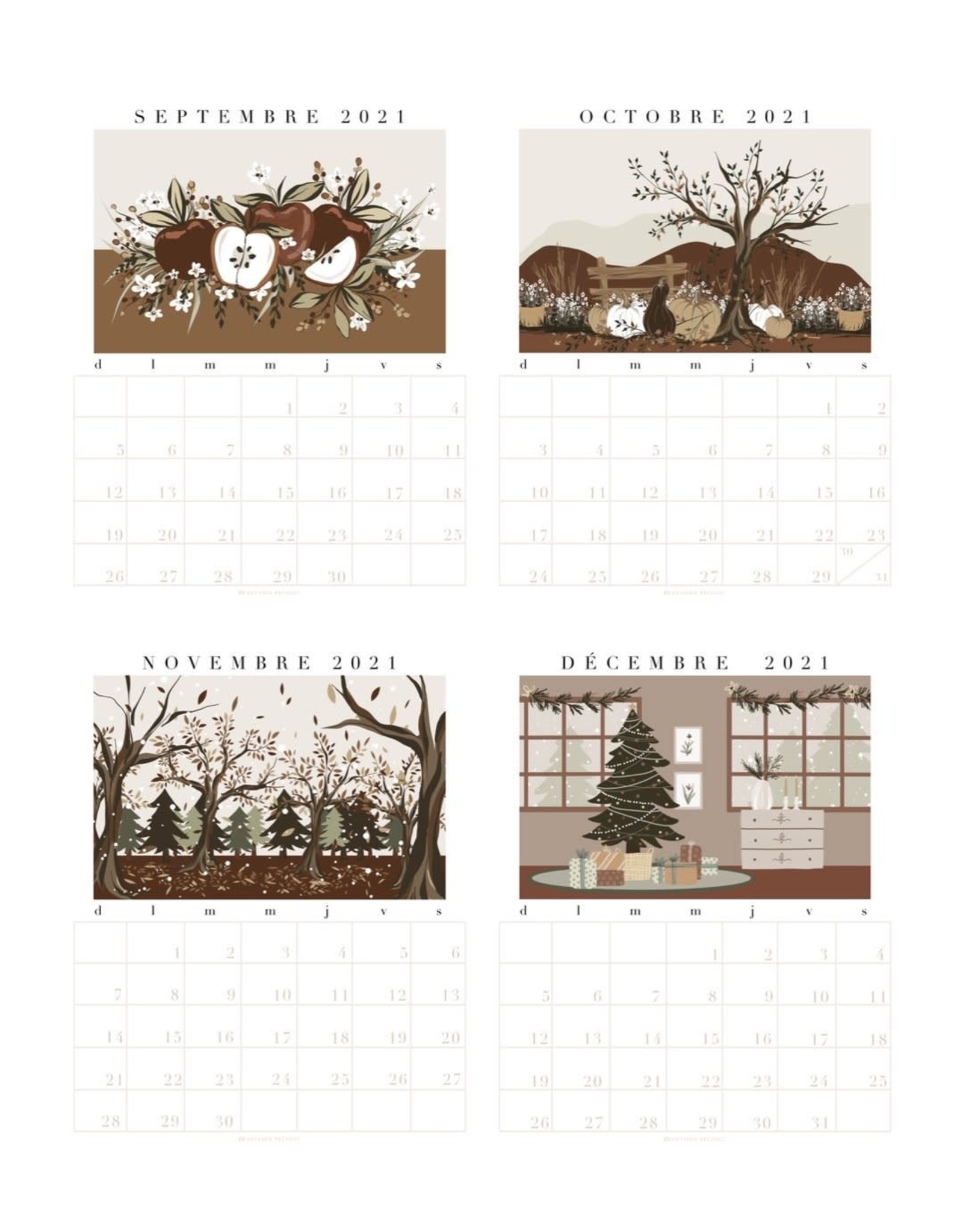 Natasha Prévost 2021 Calendar