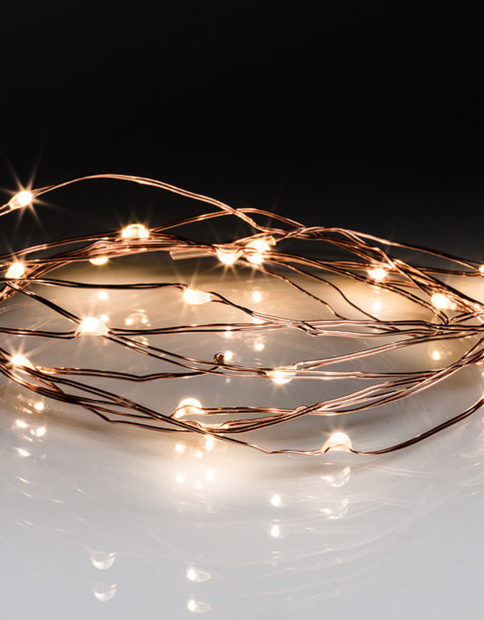 Copper Droplet LED Light String. 20 LED Lights
