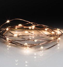 Guirlande cuivré lumineuse LED. 20 lumières LED