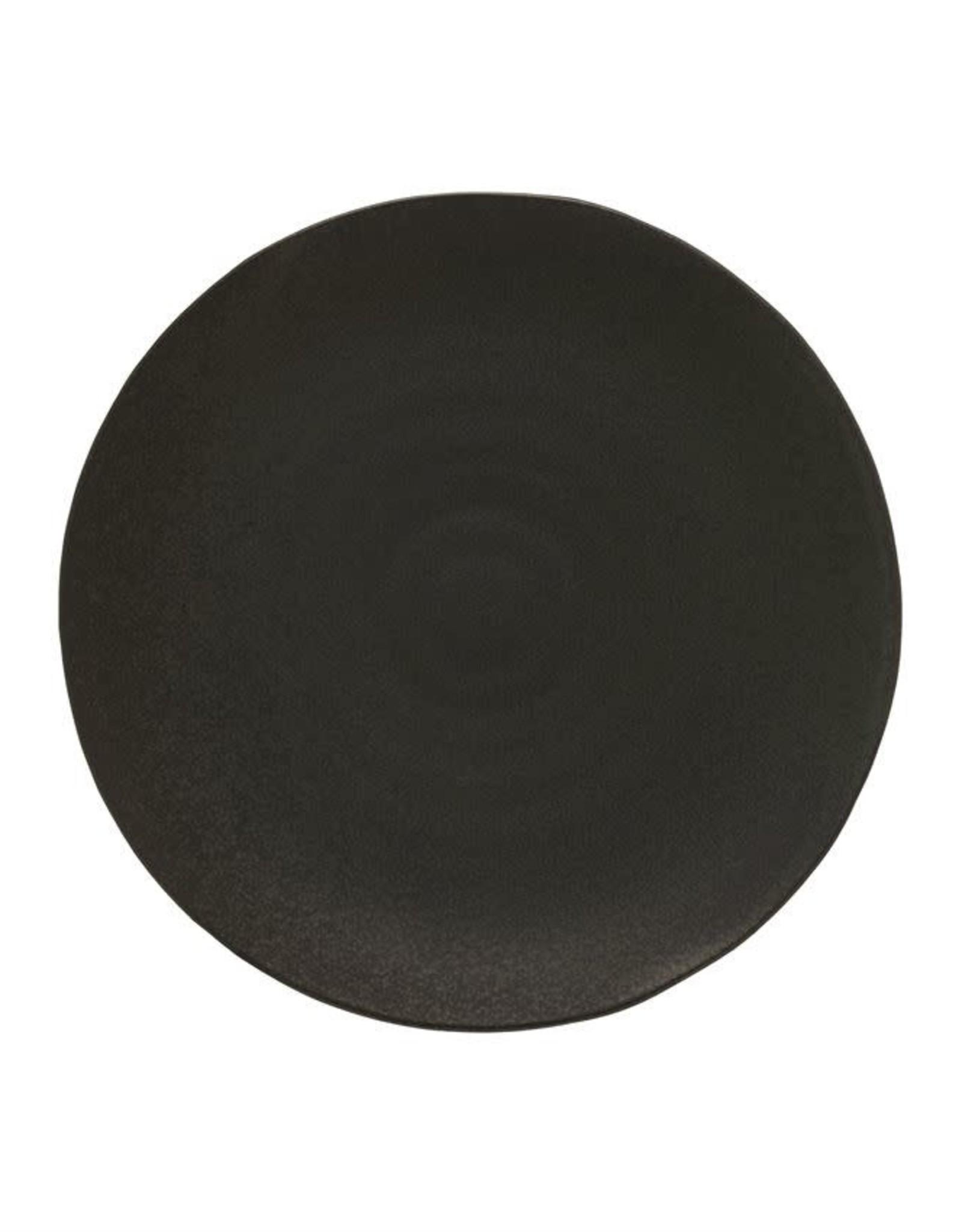 Assiette en porcelaine noire