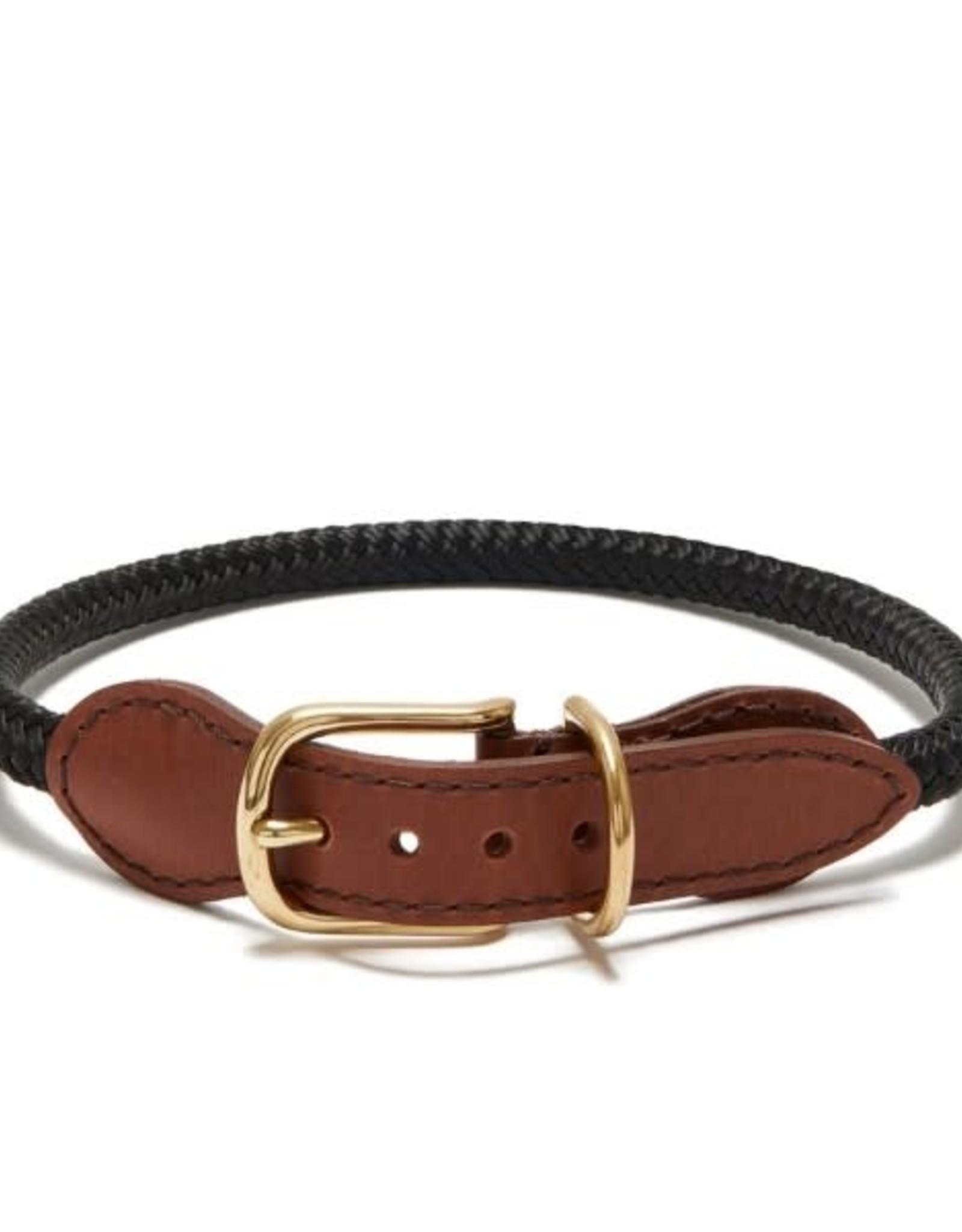 Knotty Adjustable Rope Collar - Black - Medium