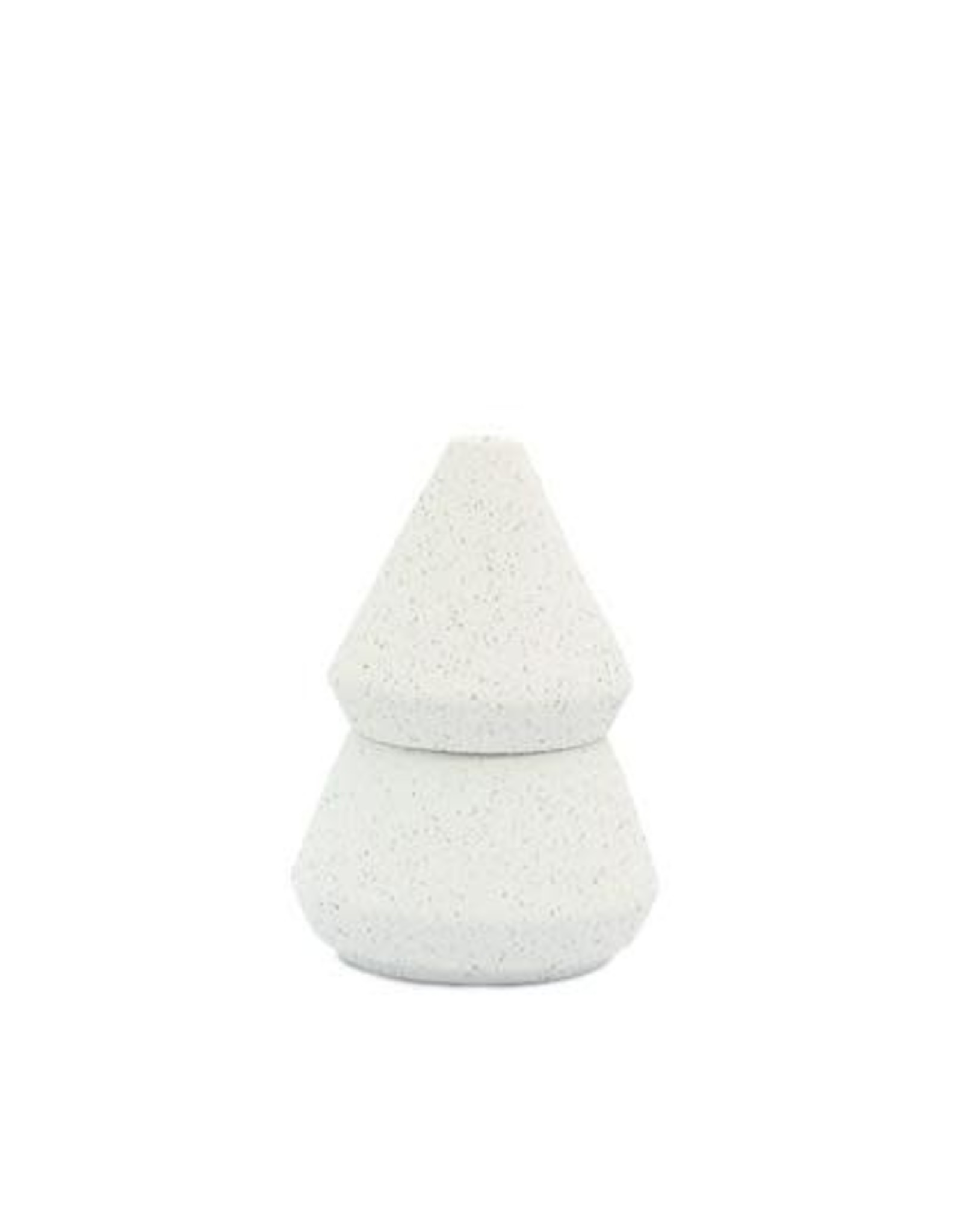 Cypress & Fir Candle 5.5oz-Small White Speckled Textured Ceramic Tree Stack