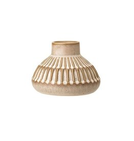 Stoneware Vase Cream Color