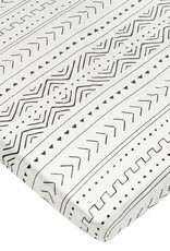 Loulou Lollipop Fitted Crib Sheet - White Mudcloth