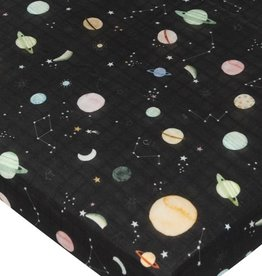 Loulou Lollipop Fitted Crib Sheet - Planets