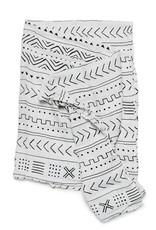 Loulou Lollipop Couverture d'Emmaillotage  - Mudcloth Blanc