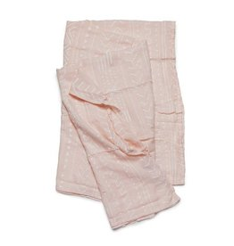 Loulou Lollipop Muslin Swaddle - Pink Mudcloth