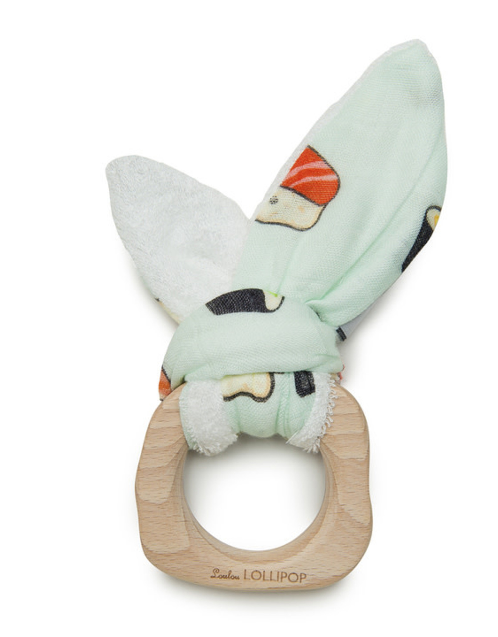 Loulou Lollipop Bunny Ear Teething Ring - Sushi