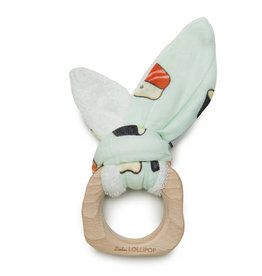 Loulou Lollipop Bunny Ear Teething Ring - Sushi