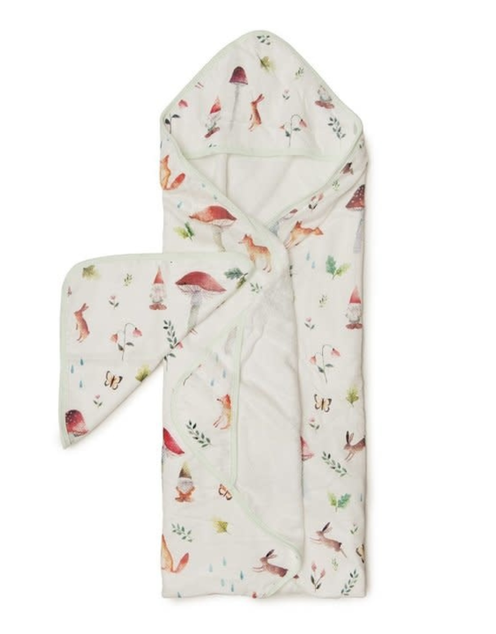 Loulou Lollipop Hooded Towel Set - Woodland Gnome