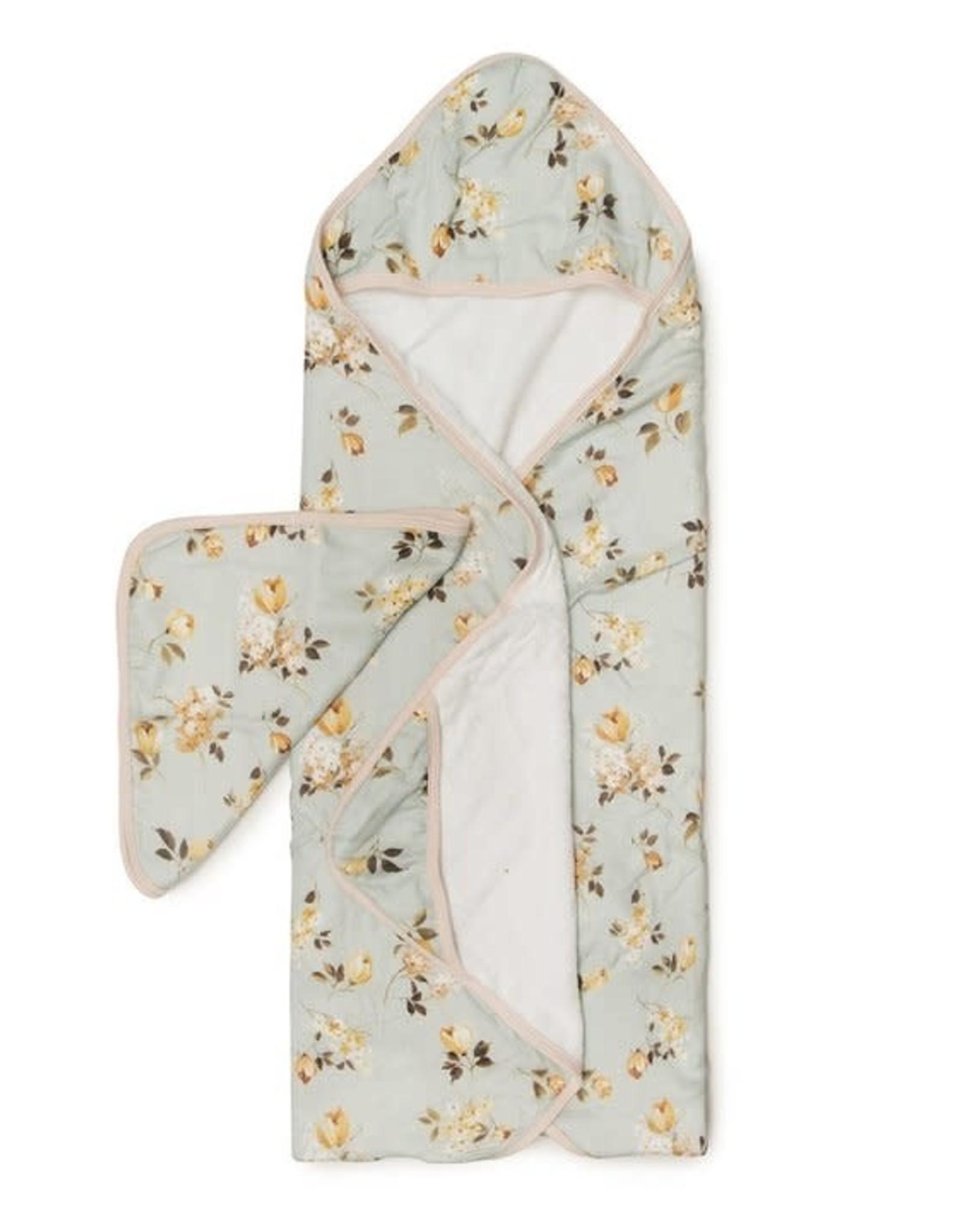 Loulou Lollipop Hooded Towel Set - Rose Wild