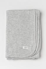 Loulou Lollipop Stretch Knit Blanket in TENCEL - Heather Grey
