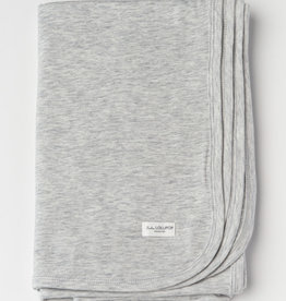 Loulou Lollipop Stretch Blanket in TENCEL - Heather Grey