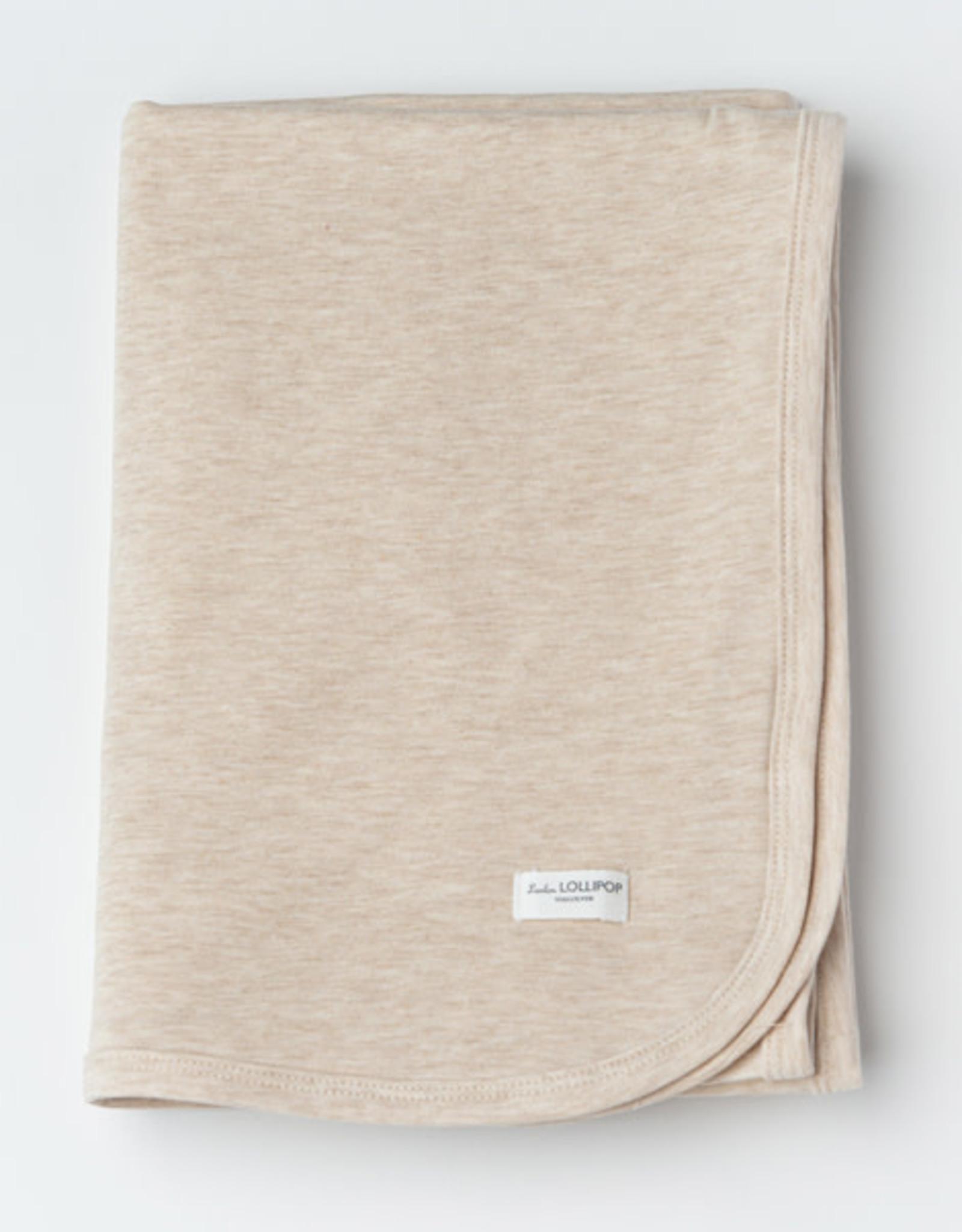 Loulou Lollipop Stretch Blanket in TENCEL - Heather Oatmeal