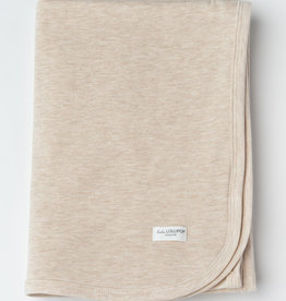 Loulou Lollipop Stretch Blanket in TENCEL - Heather Oatmeal