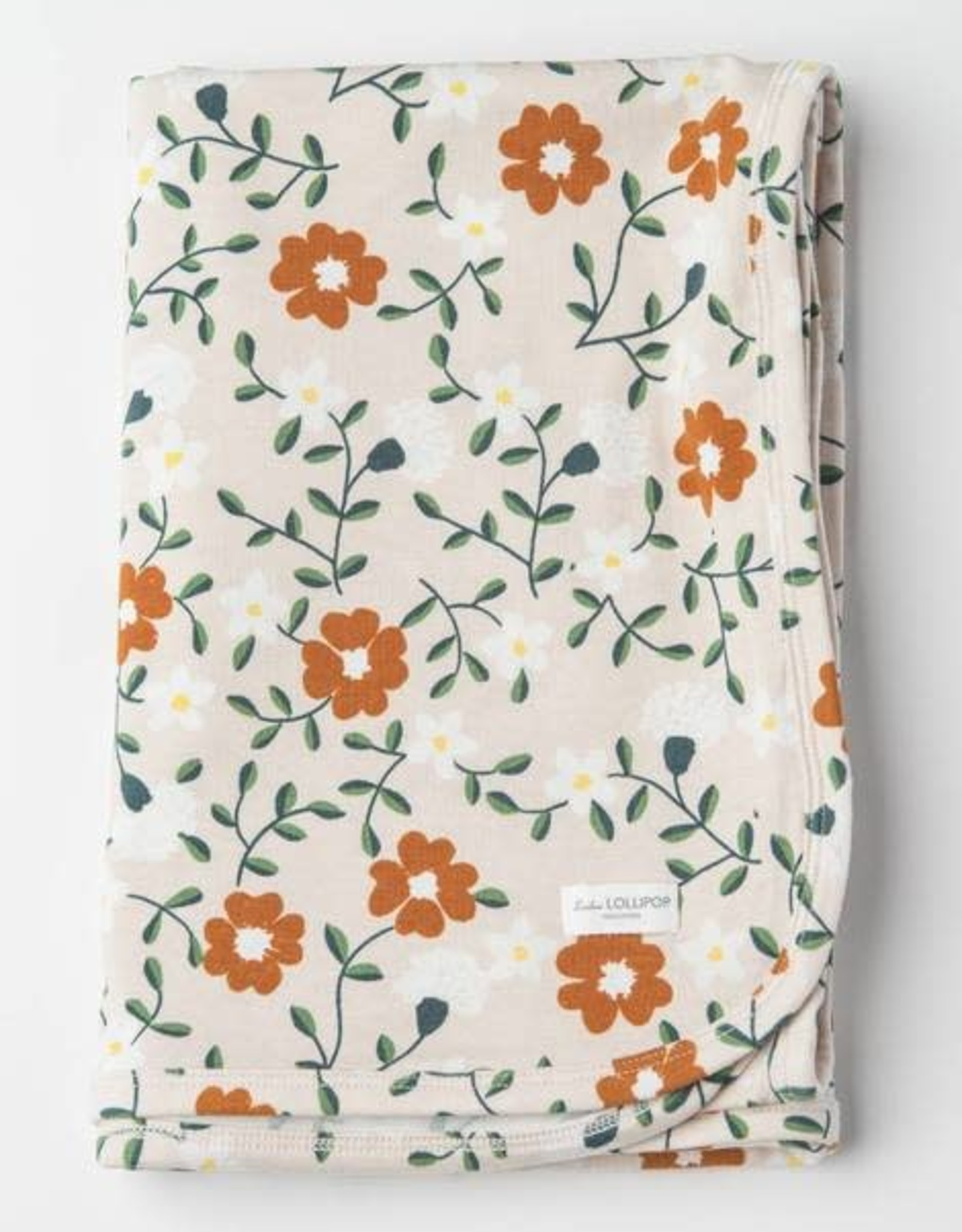 Loulou Lollipop Stretch Blanket in TENCEL - Flower Vine