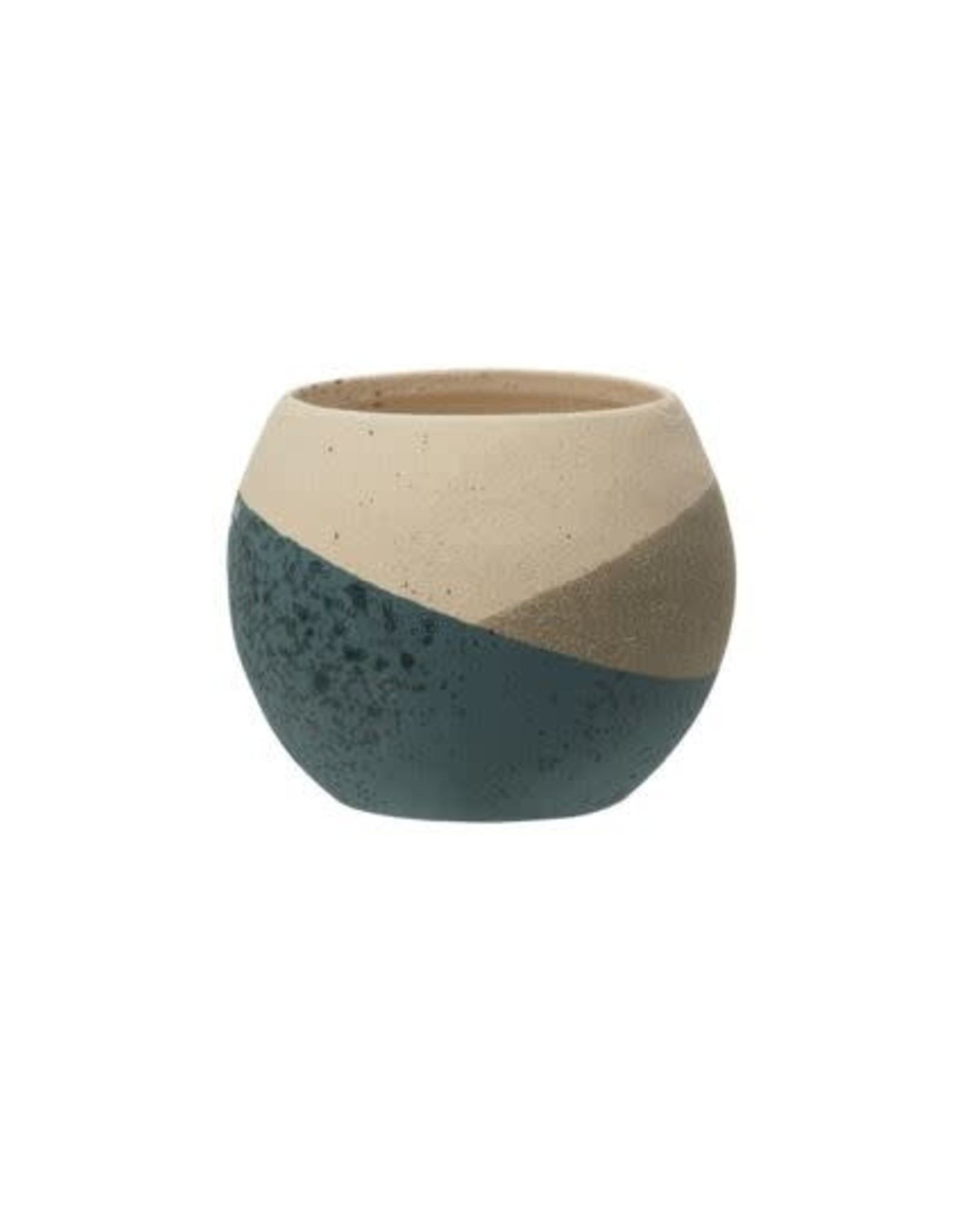 Stoneware Planter Sand Finish - 3 Colors