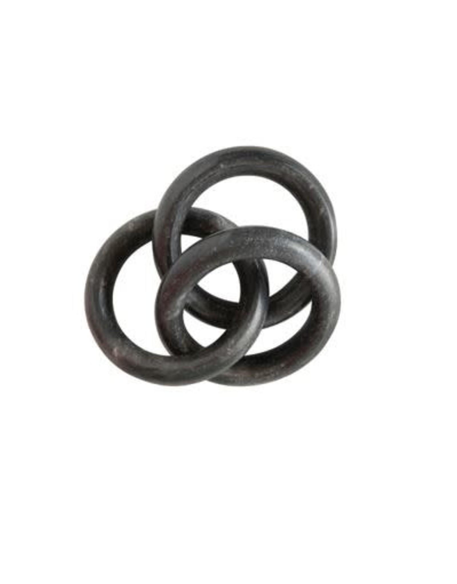 Marble Circle Chain - Black