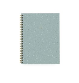 Baltic Club Large Mint Terrazzo Spiral Notebook - Lined