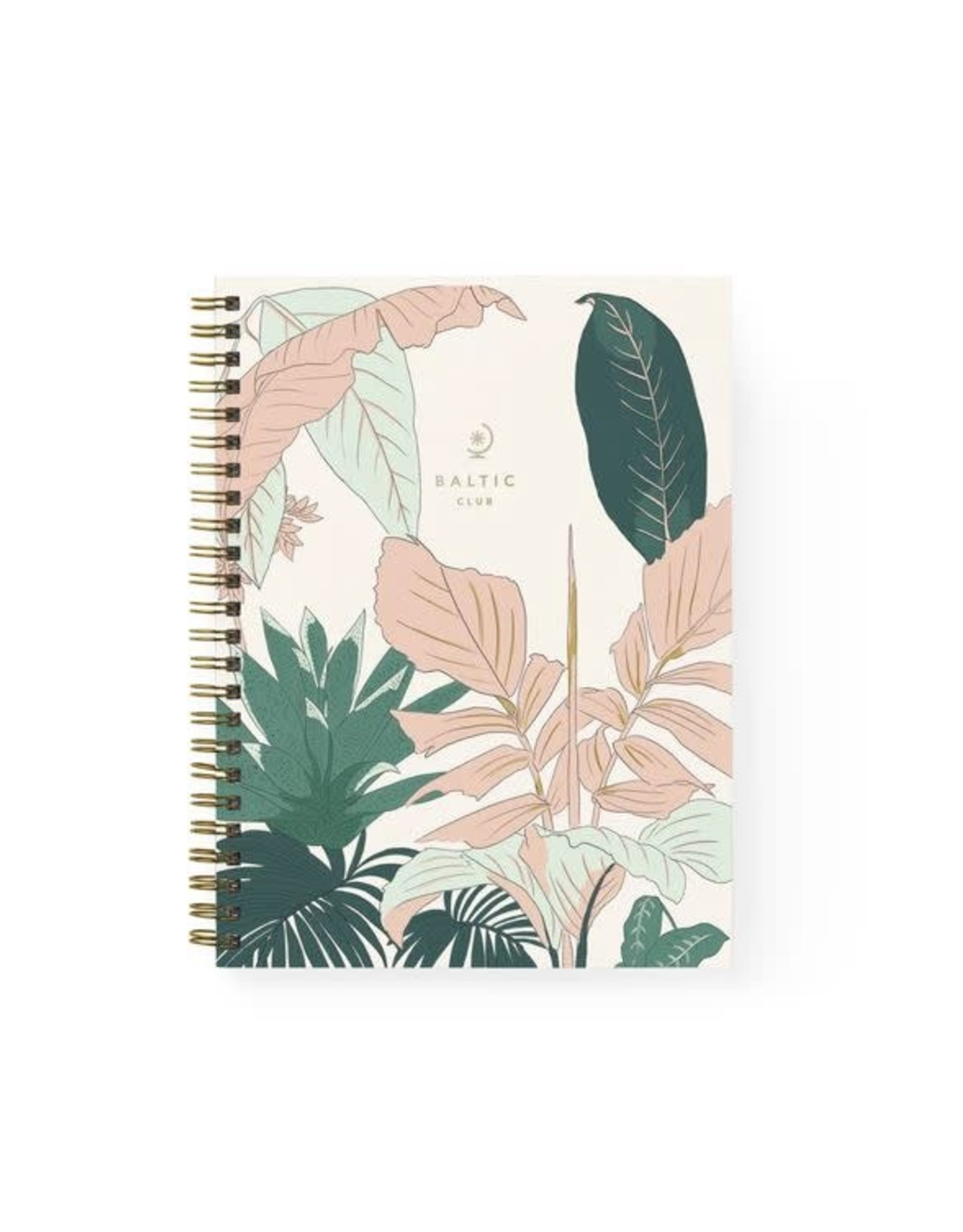 Baltic Club Florida Spiral Notebook - Blank Pages