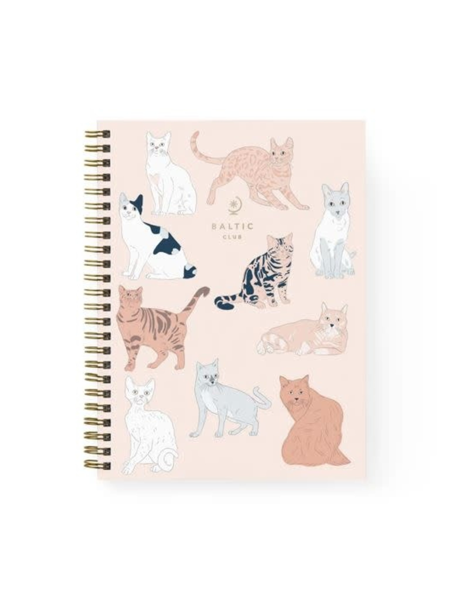 Baltic Club Cats Spiral Notebook - Blank Pages