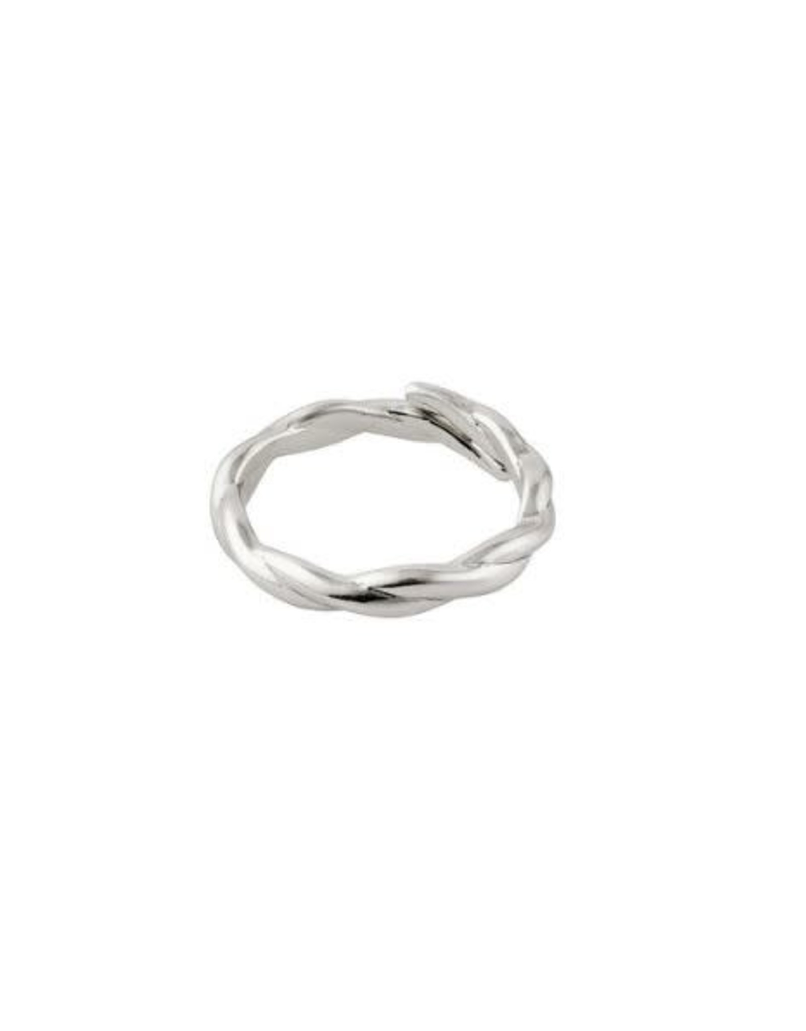 Pilgrim Ring Twisted - Silver Plated