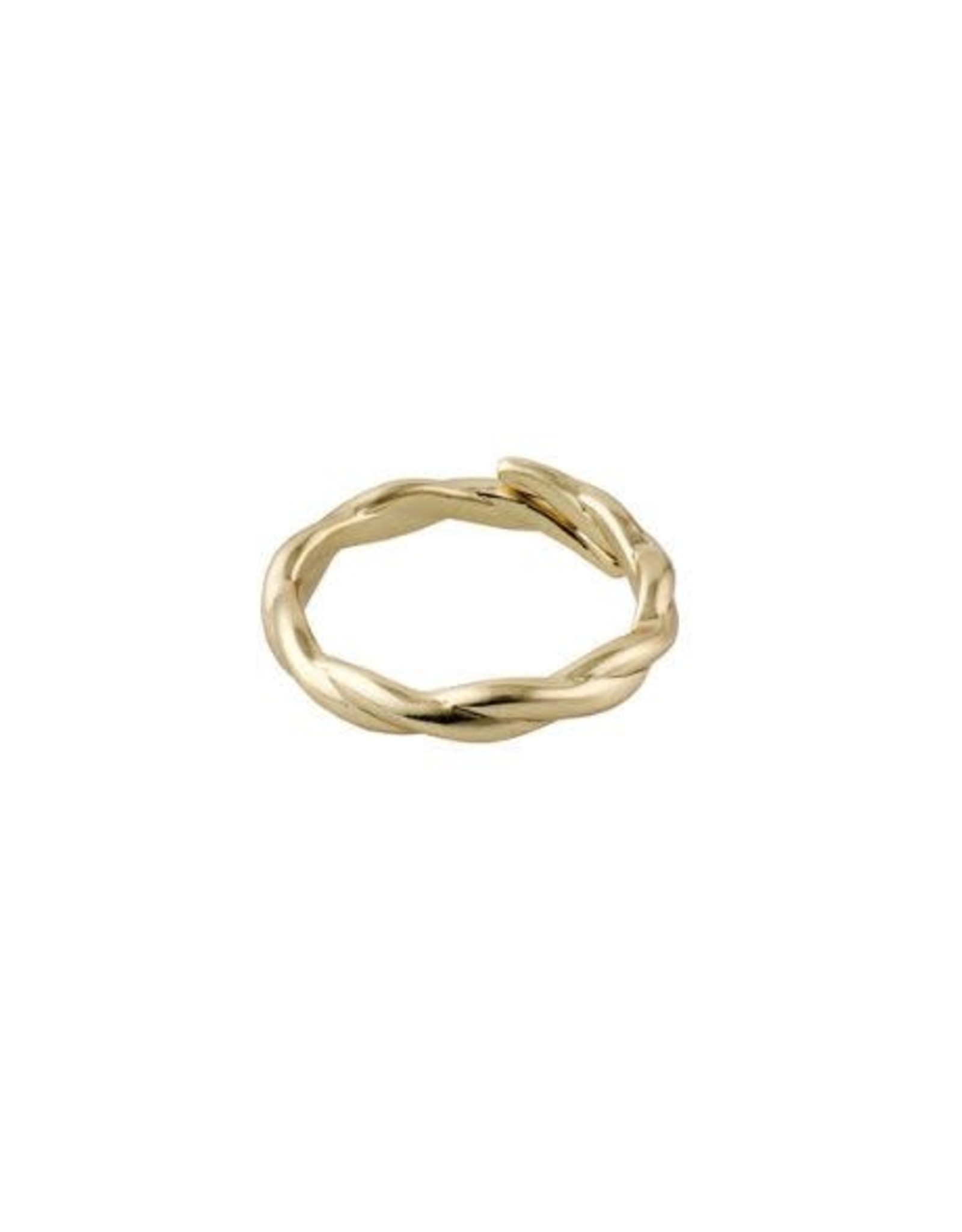 Pilgrim Ring Twisted - Gold Plated