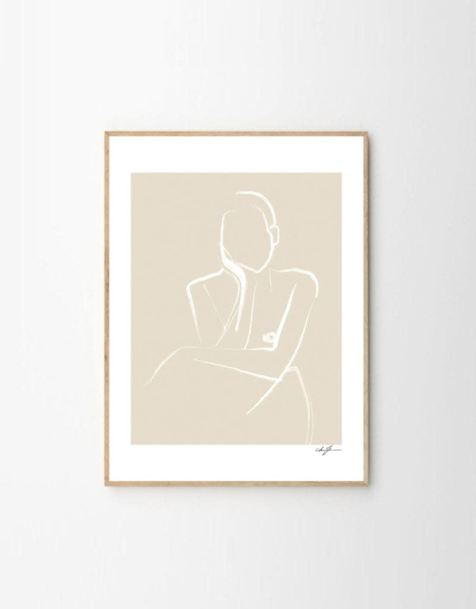 The Poster Club Demure Print - by Anna Johansson - 30 x 40 cm