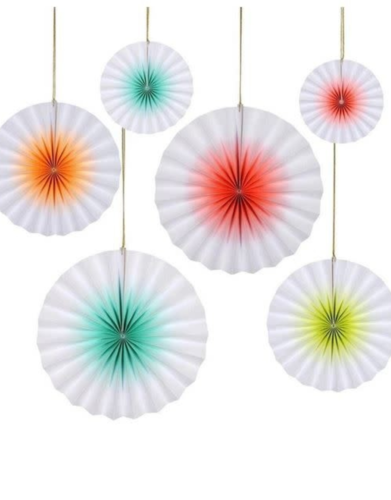 Meri Meri Neon Ombre Pinwheel Decorations
