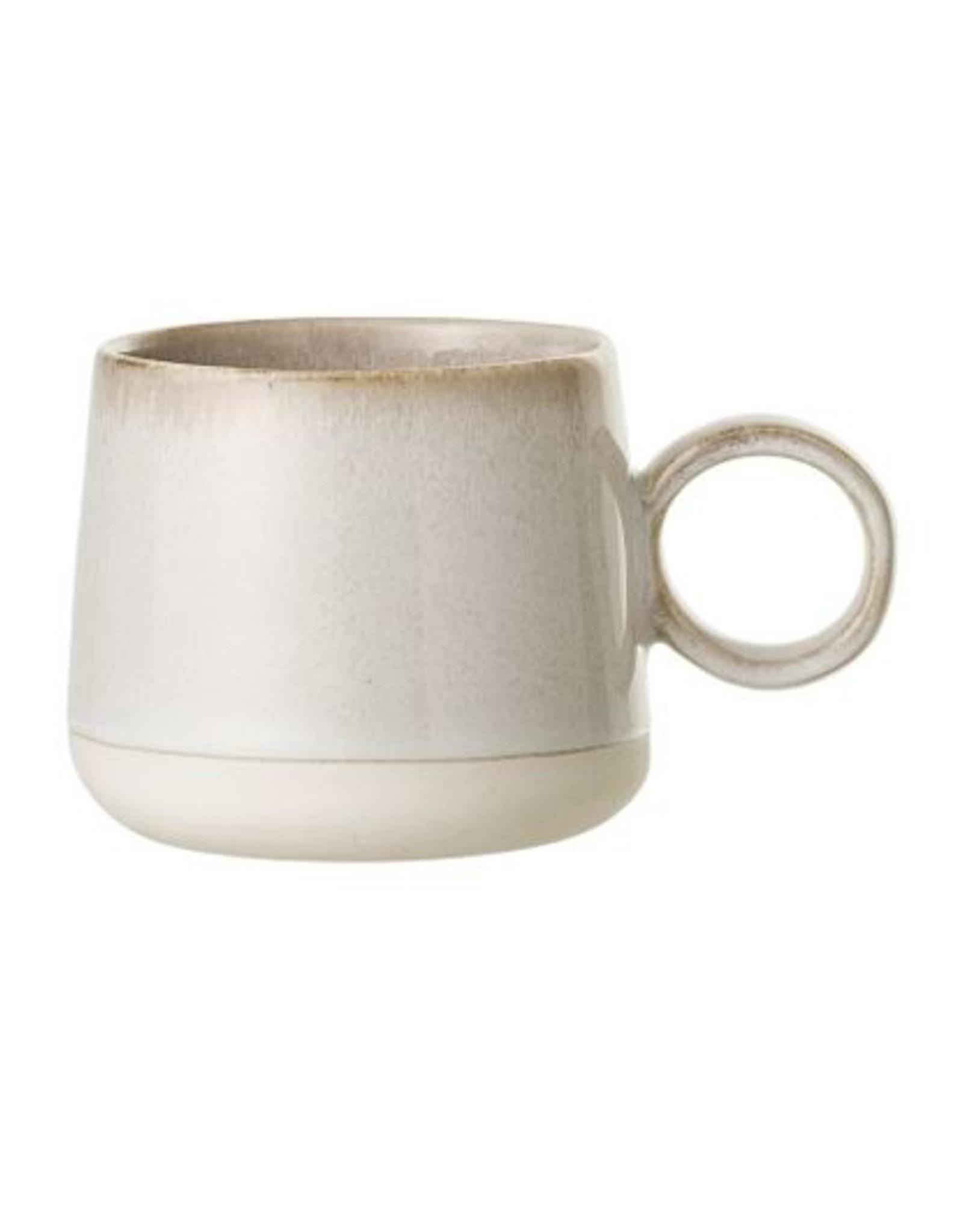 Stoneware Mug - White Reactive Glaze