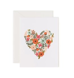 Rifle Paper Co. Carte de Souhaits -  Coeur Floral