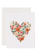 Rifle Paper Co. Greeting Card - Flower Heart