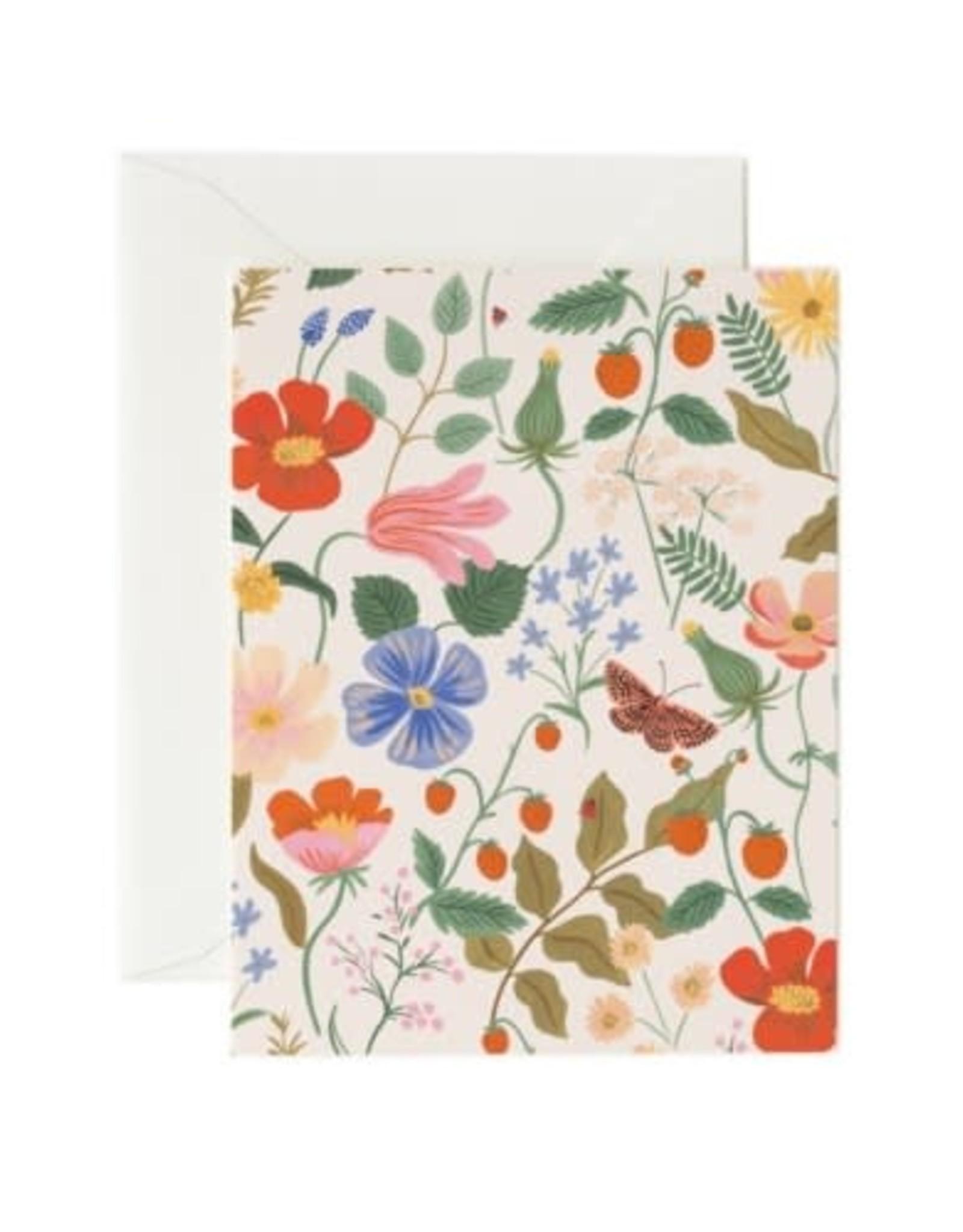 Riffle Paper Co. Carte de Souhaits - Champs de Fraises