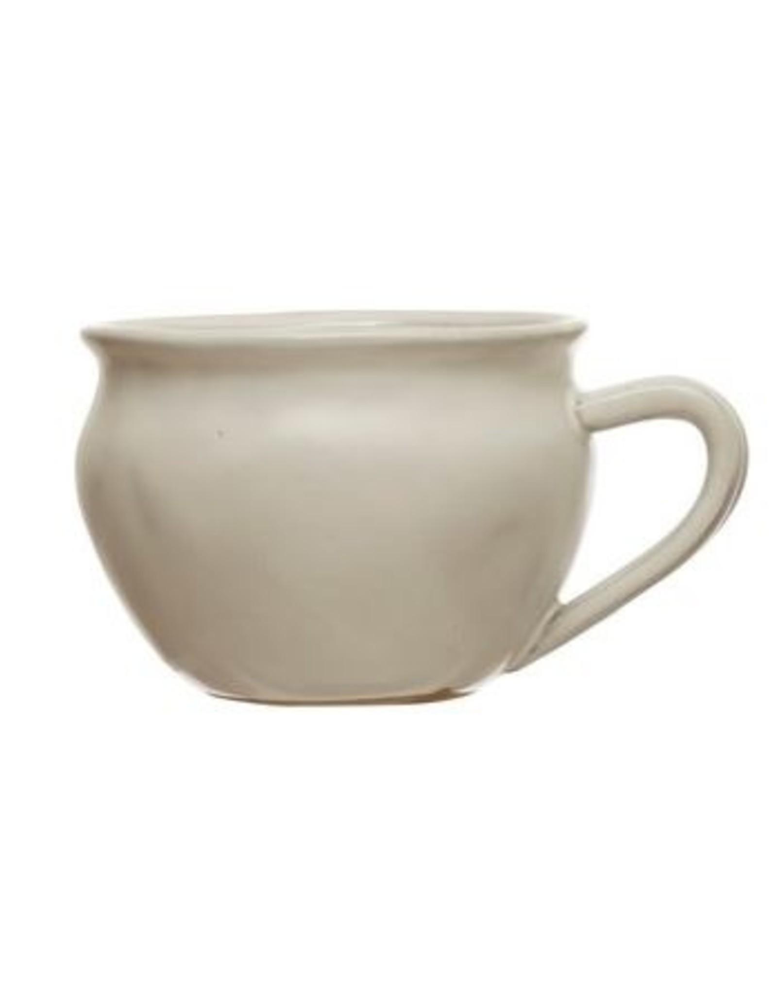 Tasse en Grès Blanc Mat