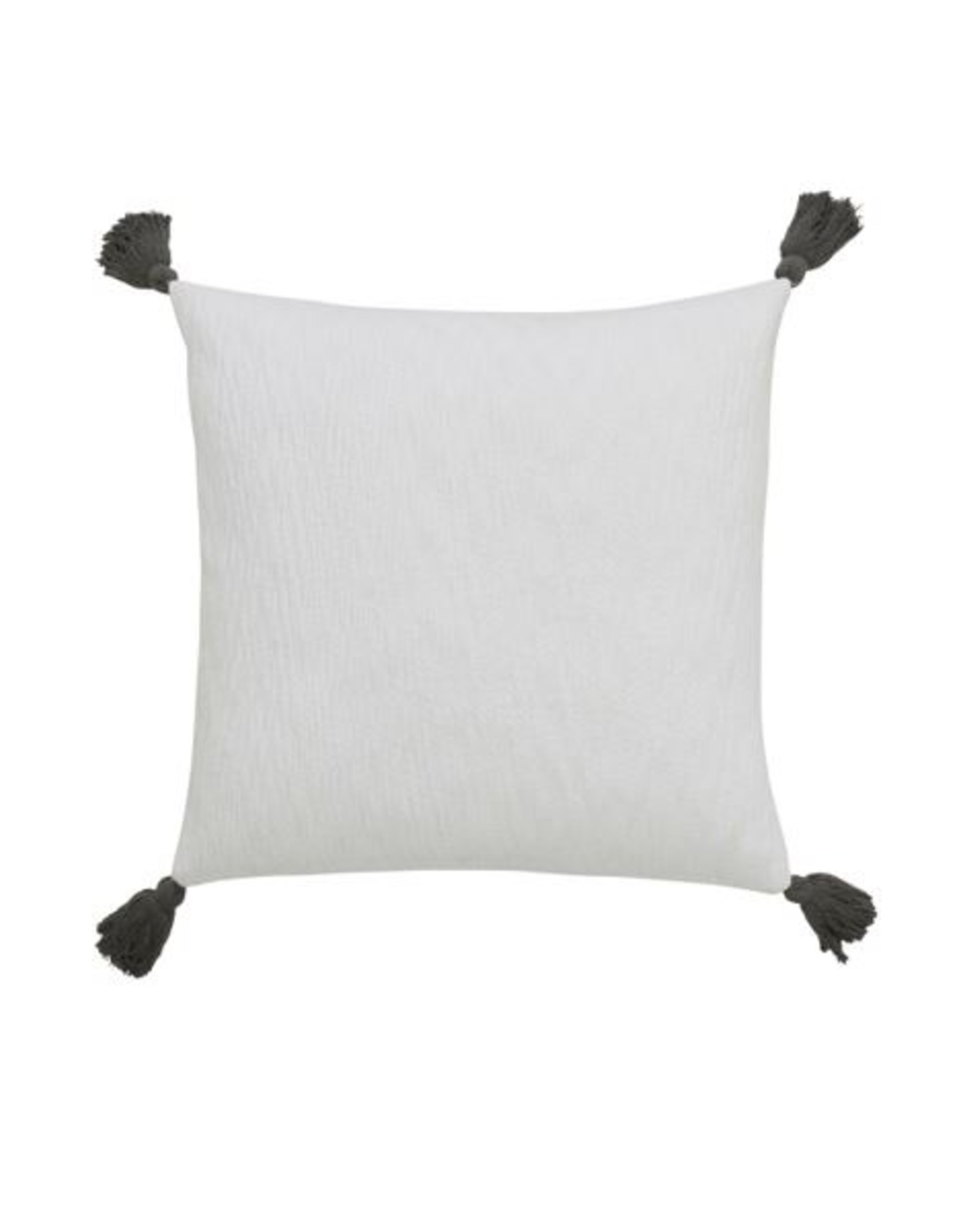 White Pillow with Tassel