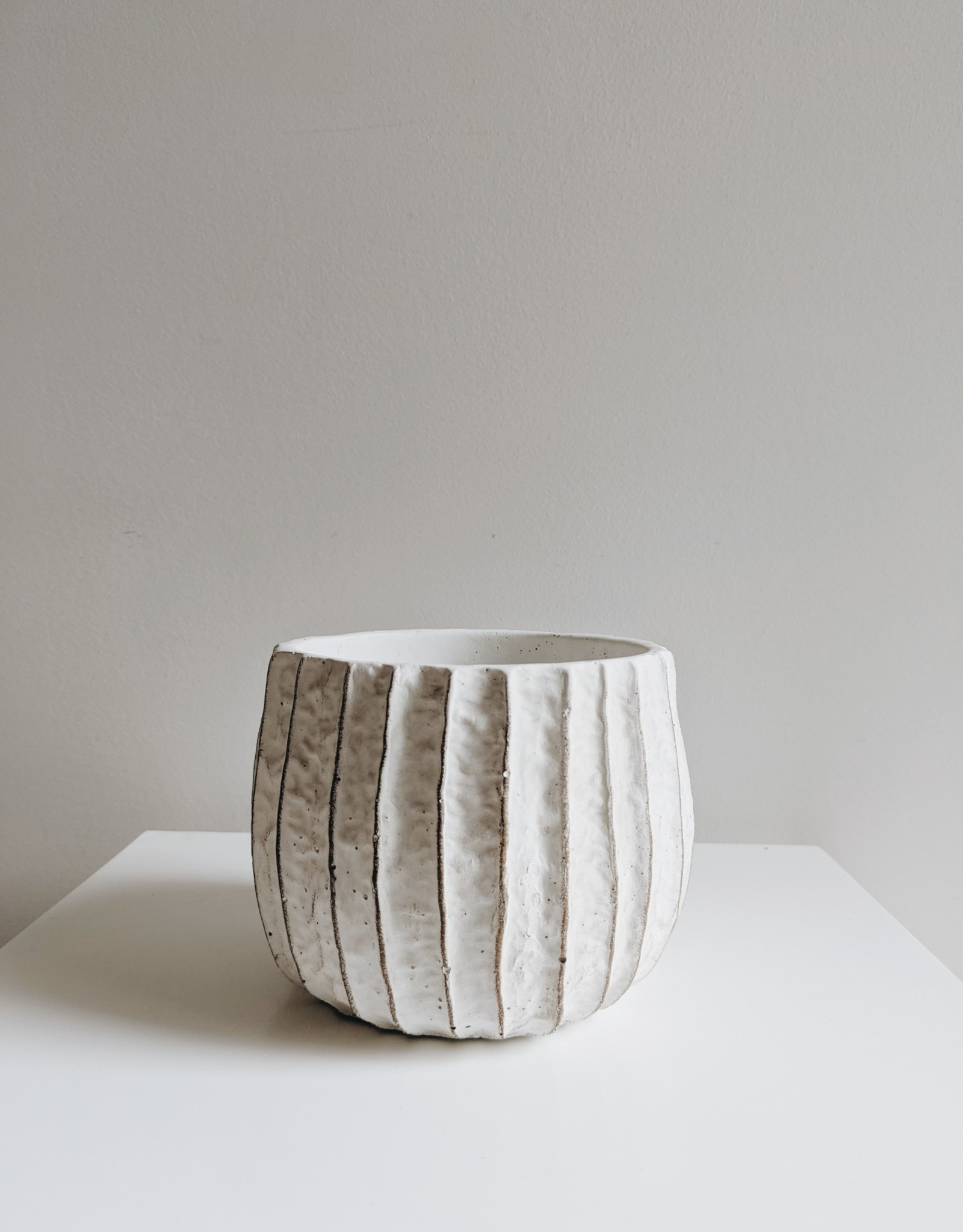 White Ruffled Pot (select your size)