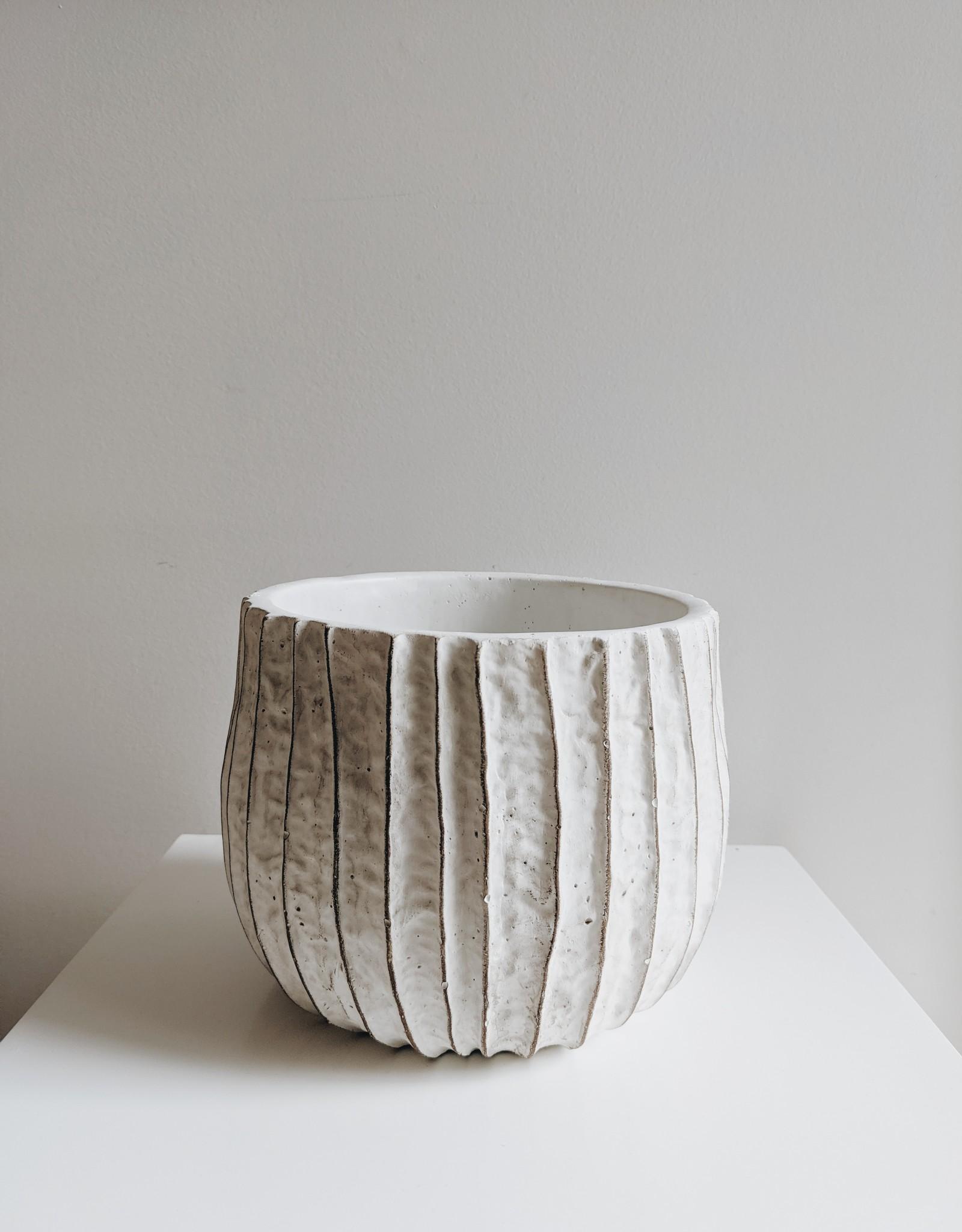 Pot Blanc Texturé (sélectionnez votre taille)