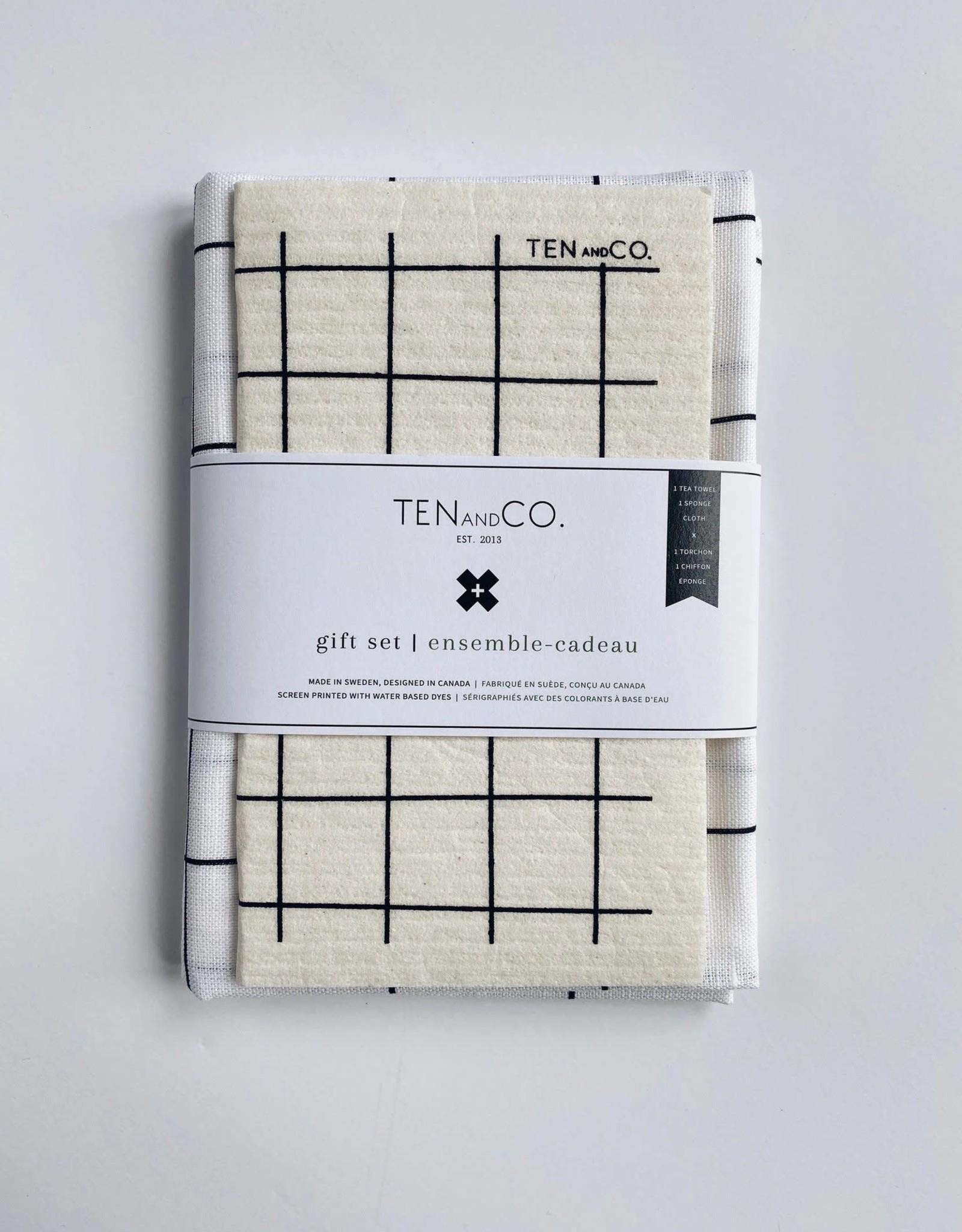 Gift Set - Grid Black on White
