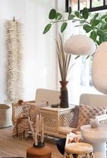 Handmade Paper & Wicker Pendant Lamp
