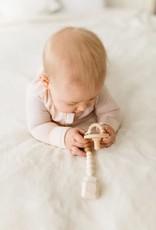 Loulou Lollipop Colour Pop Silicone & Wood Pacifer Clip - Coconut Milk