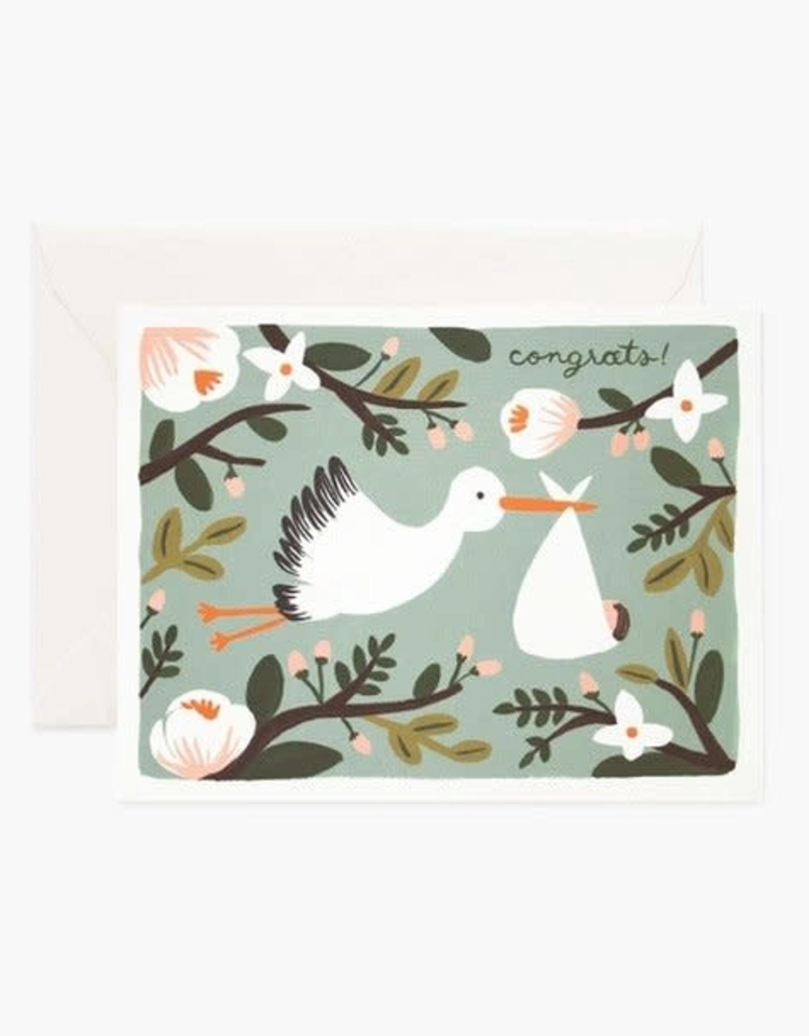 Rifle Paper Co. Congrats Stork Card