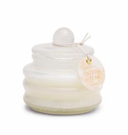 Beam White Glass 3oz. Candle - Cotton & Teak