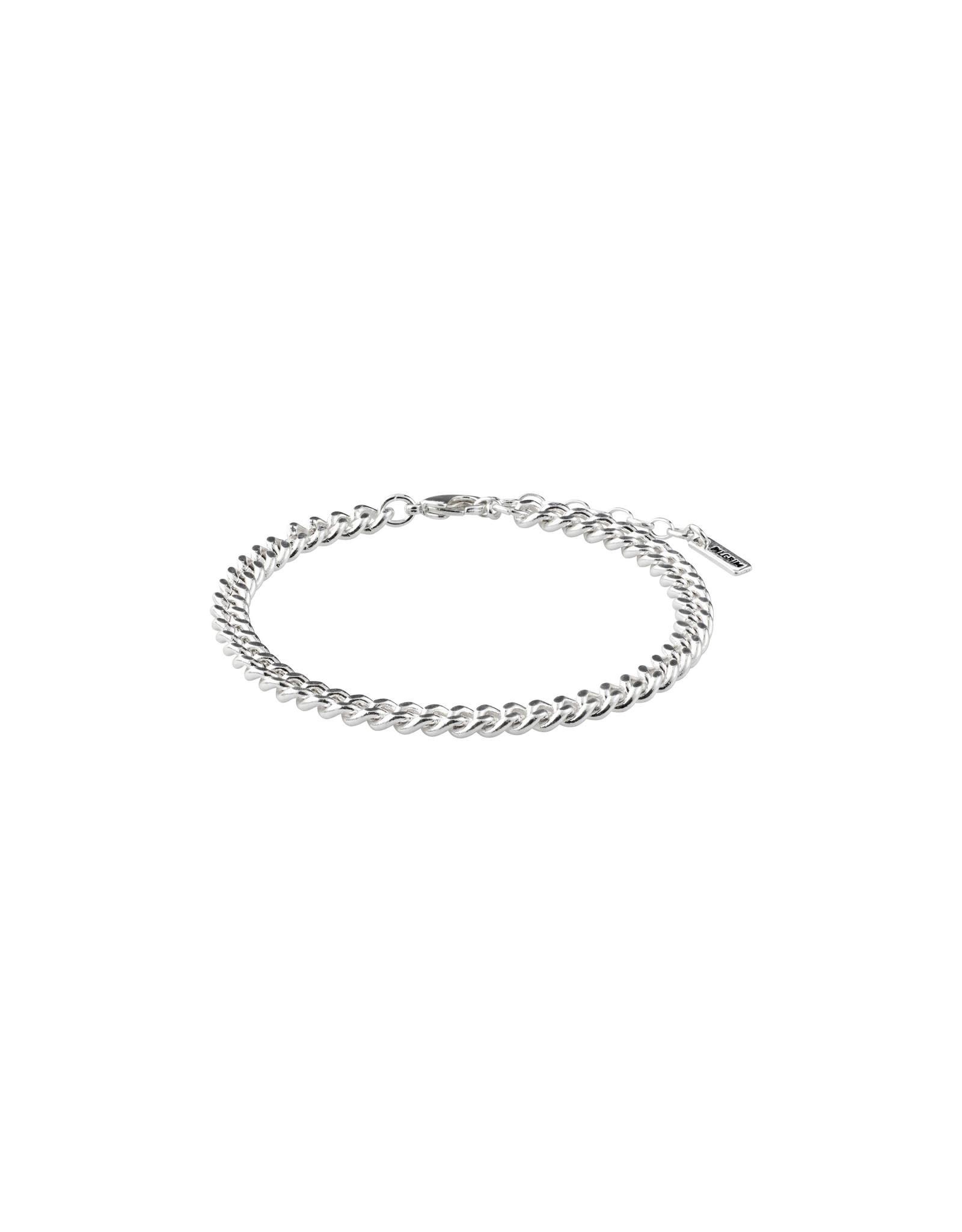 Pilgrim Bracelet Fuchsia - Silver Plated