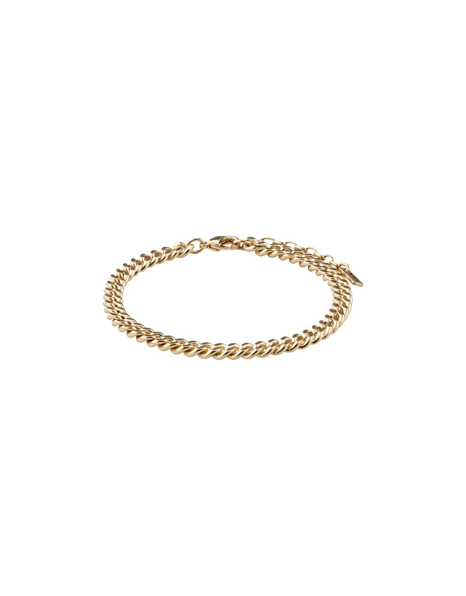 Pilgrim Bracelet Fuchsia - Gold plated