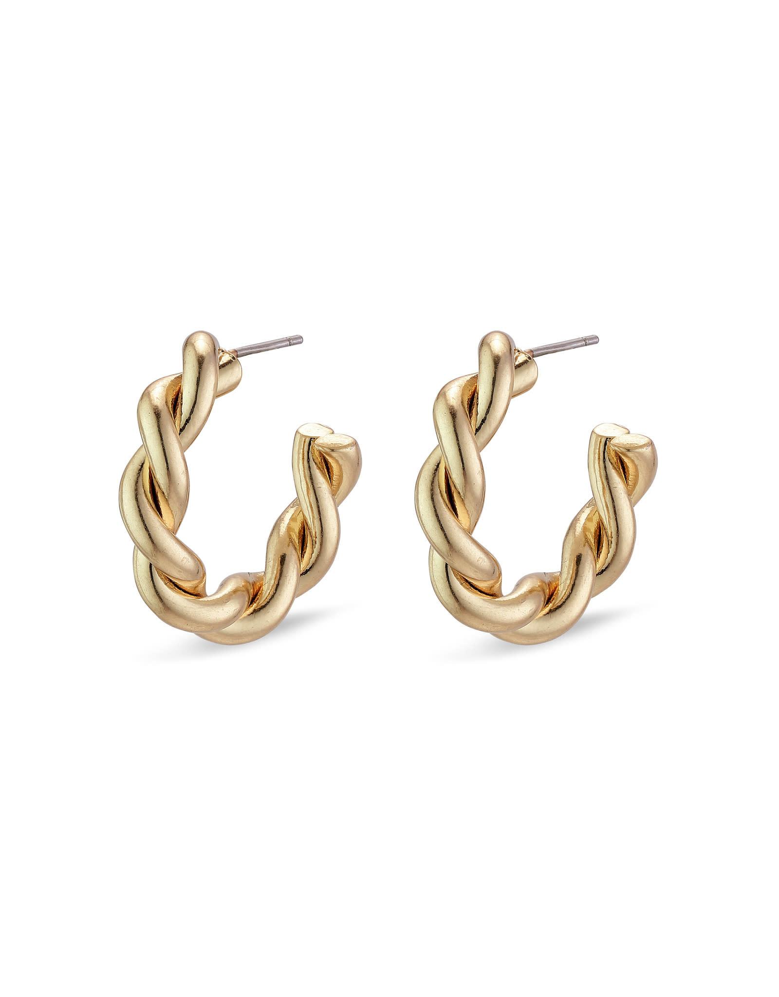 Pilgrim Earring Skuld - Gold Plated