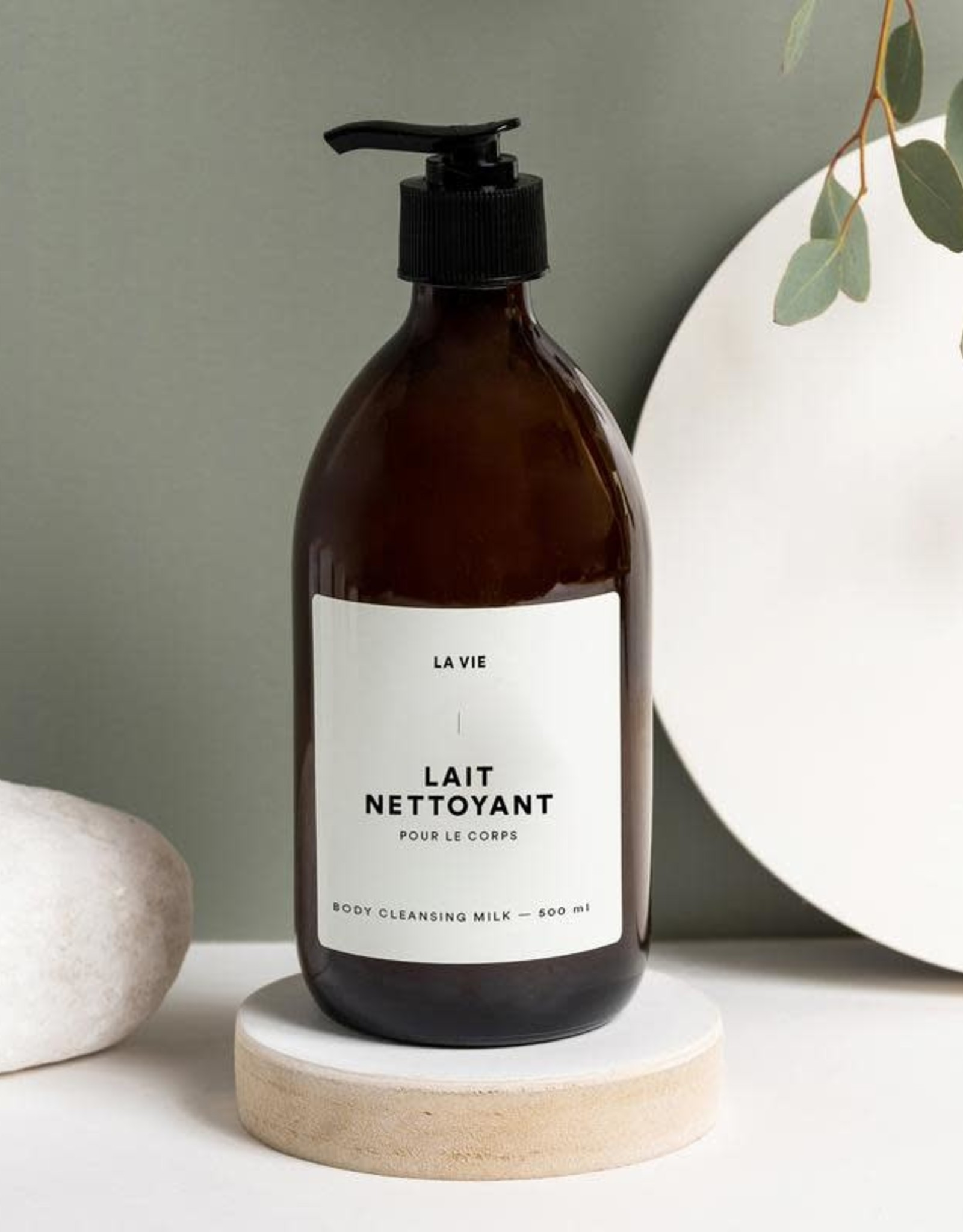 Atelier La Vie Apothicaire Lait Nettoyant Corps - Eucalyptus/Romarin