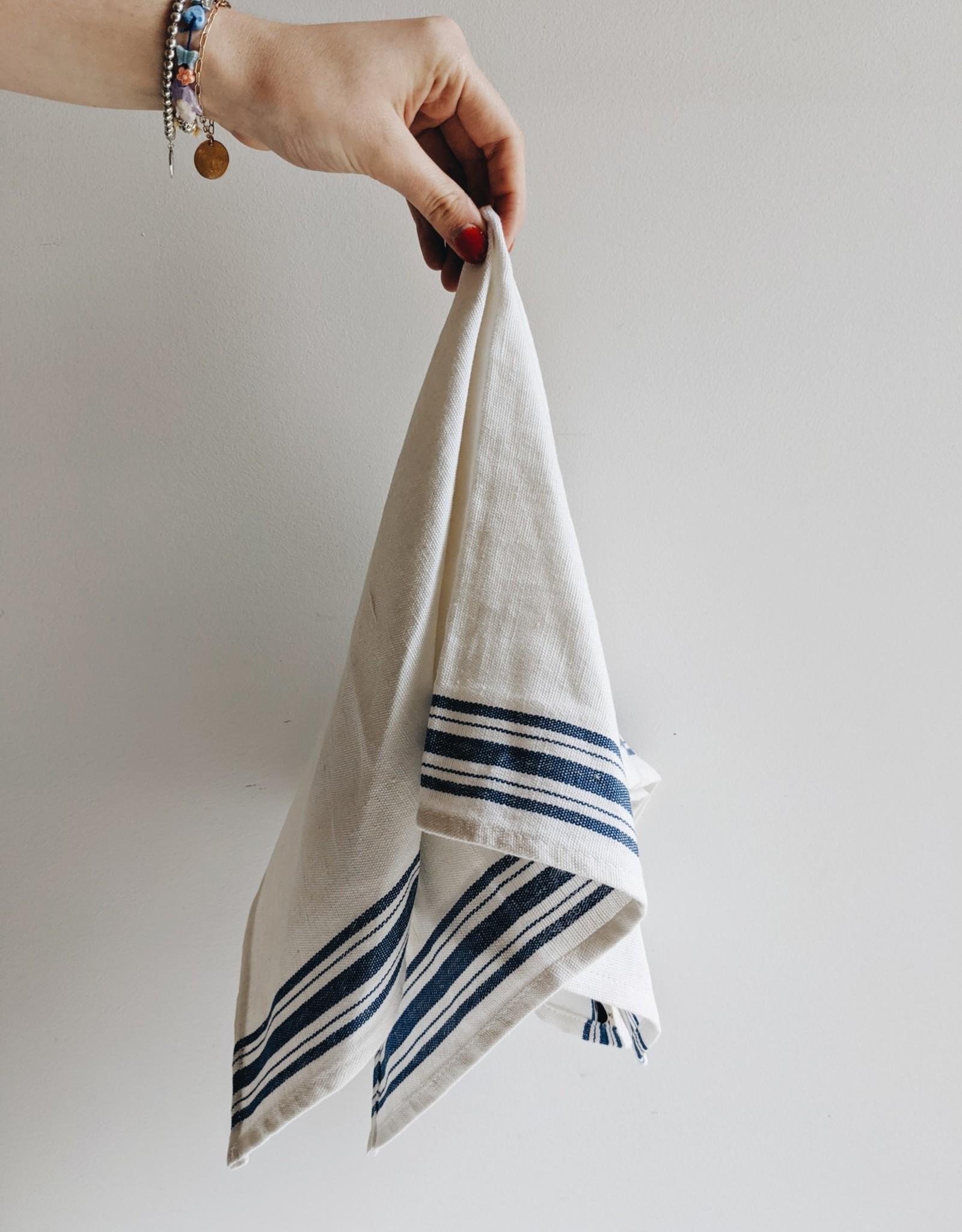 Maske Dishclothes Linen/Coton - Blue