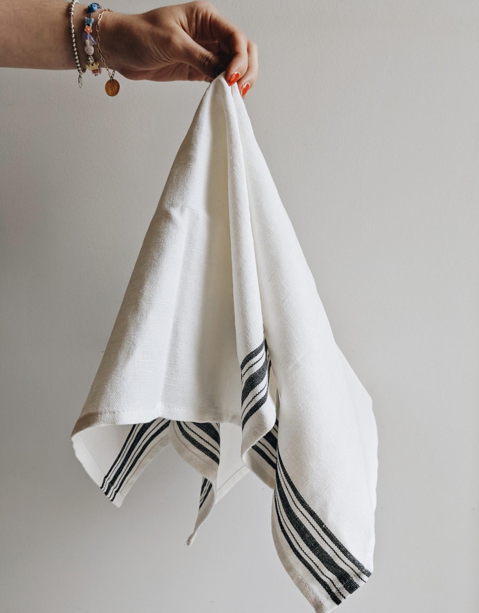 Maske Dishclothes Linen/Coton - Black