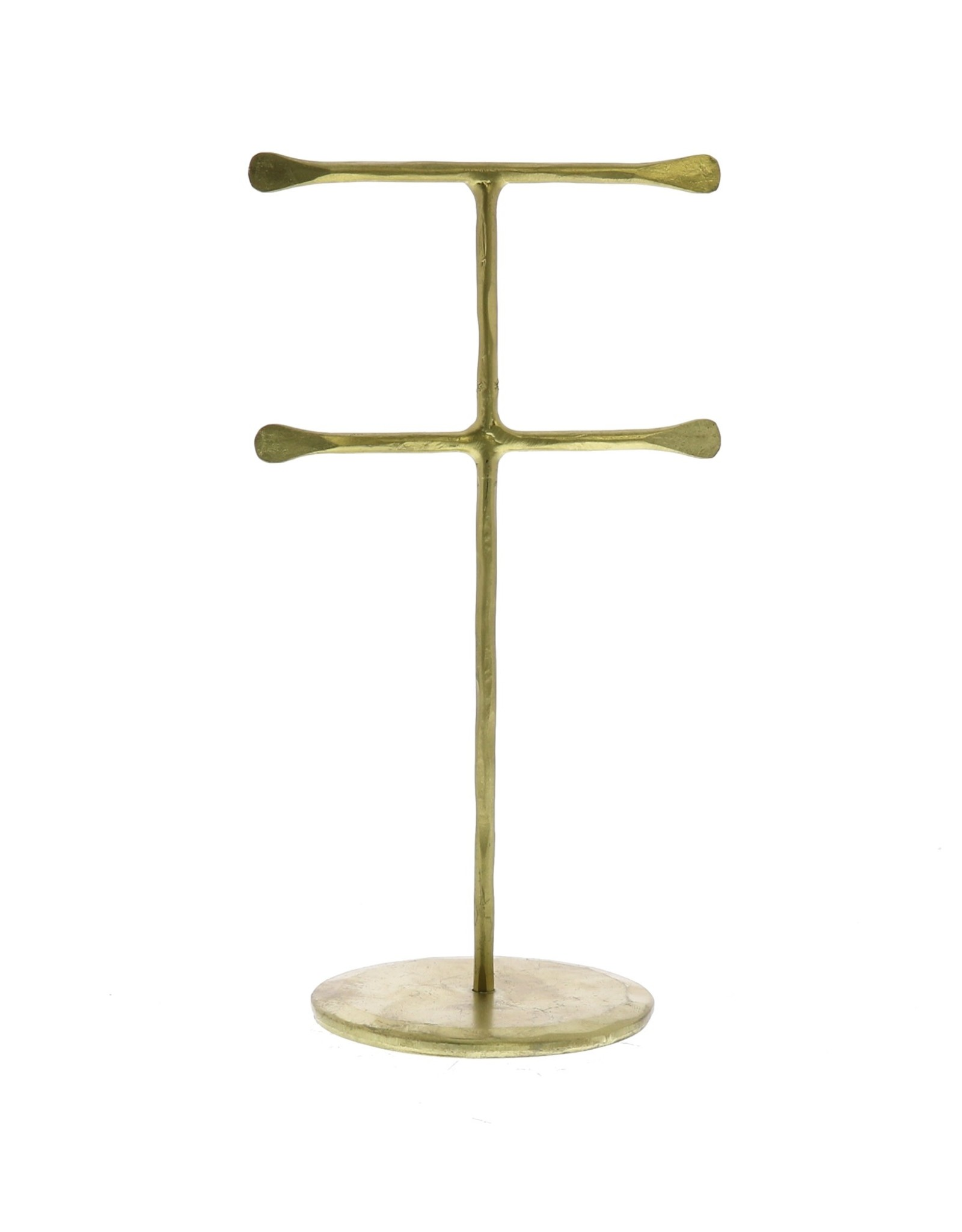 Homart Jewelry Double T Stand - Brass