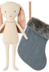 Bunny Angel in Stocking - Blue